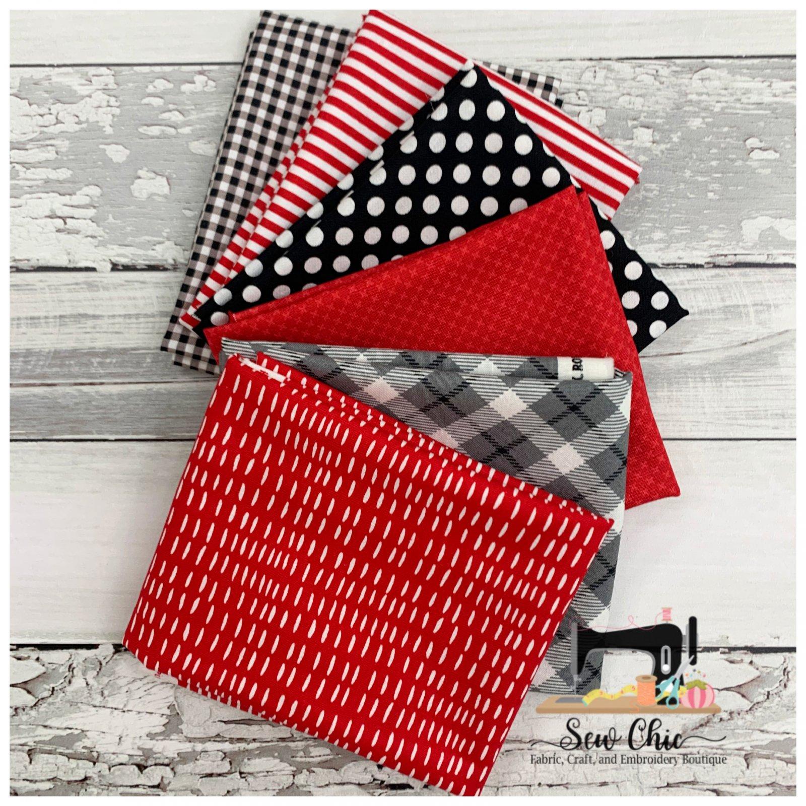 Red and Black Love Fat Quarter Bundle