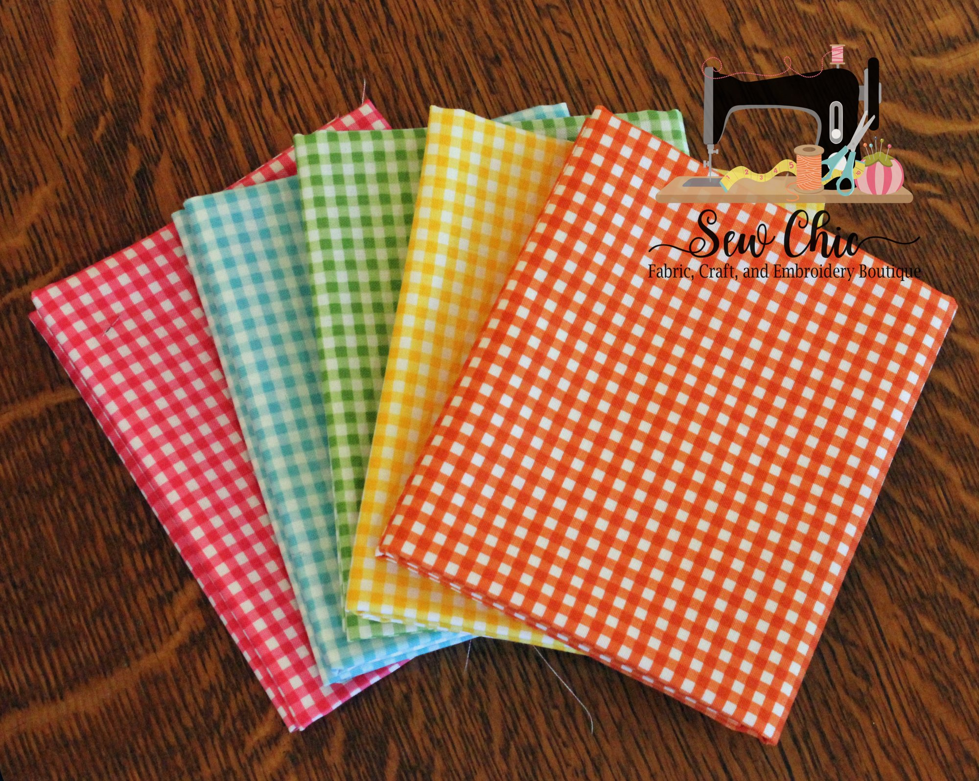 Beach Gingham Fat Quarter Bundle