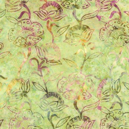 TT Batik Tonga Tossed Flowers Garden