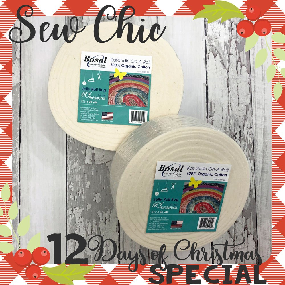 12 Days of Christmas 2 rolls of batting for Jelly Roll Rug
