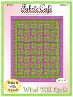 Windmill 3 yd quilt pattern