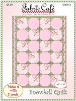 Snowball 3 yd quilt pattern