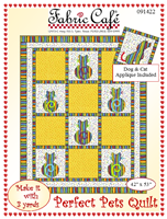 Perfect Pets 3 yd quilt pattern