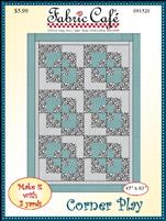 Corner Play 3 yd quilt pattern