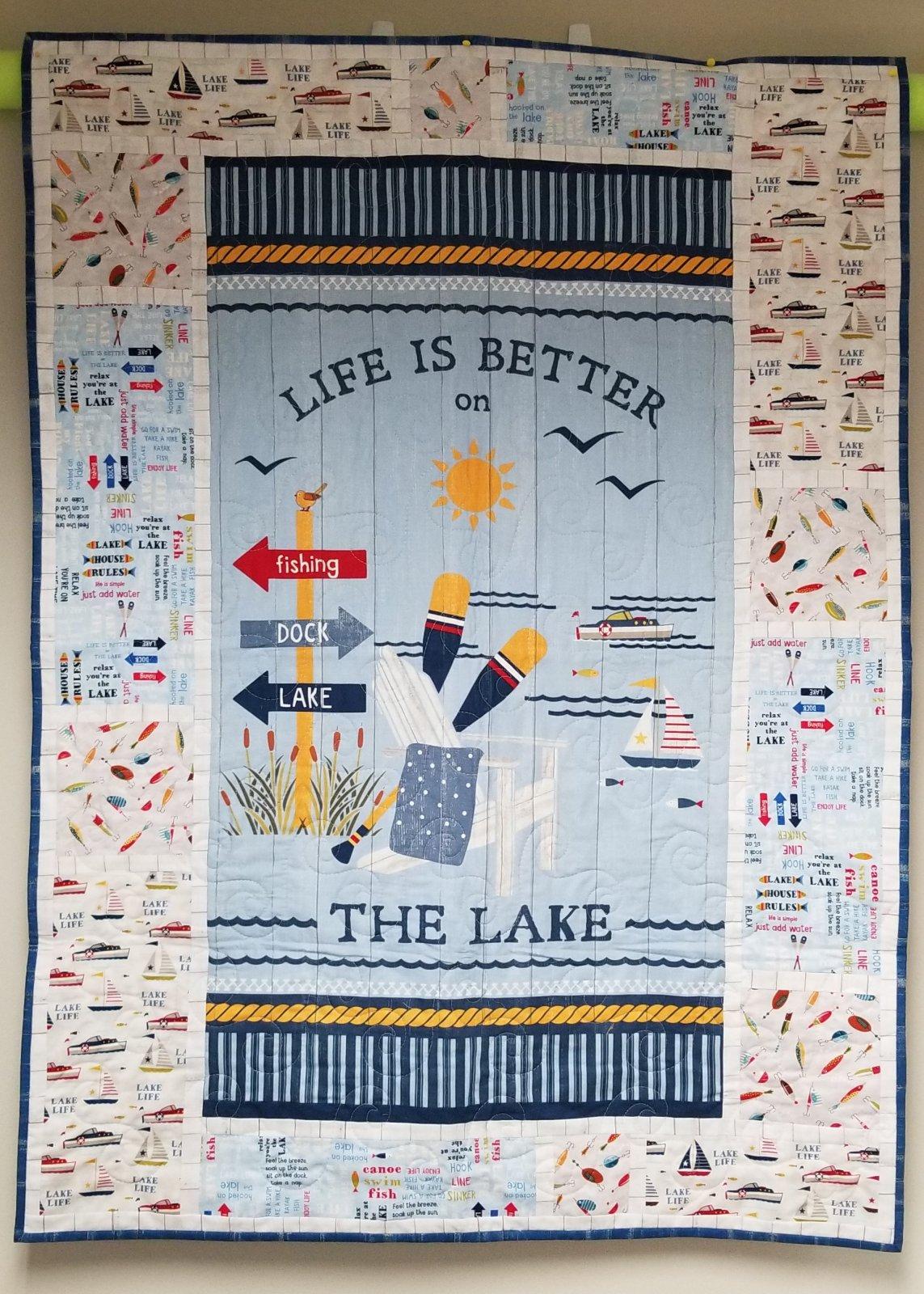 Lake Life Quilt 39 X 53