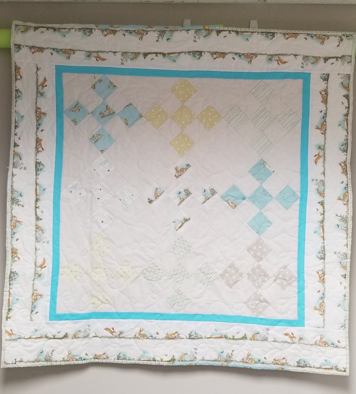 Guess How Much I love You Quilt 44.5 X 44.5