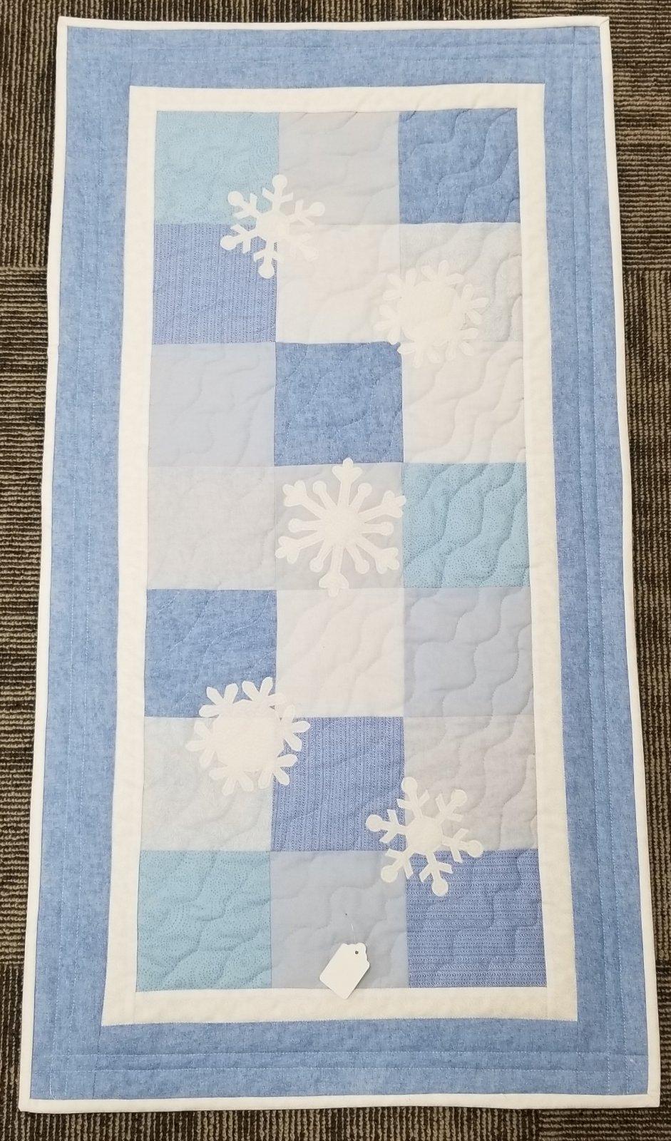 FlowerPower/Snowflake Table Runner 20.5 X 38