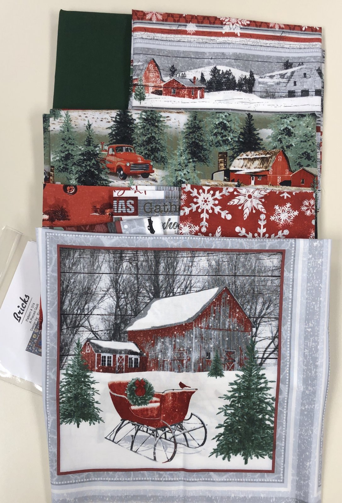 Holiday Homestead Quilt Kit 54.5 X 68.5