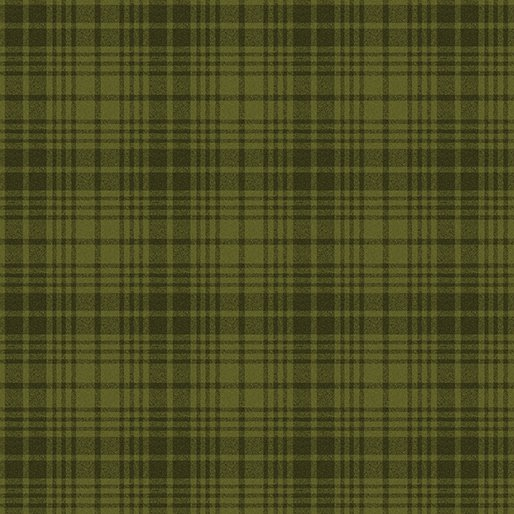 A Very Wooly Winter Plaid Green