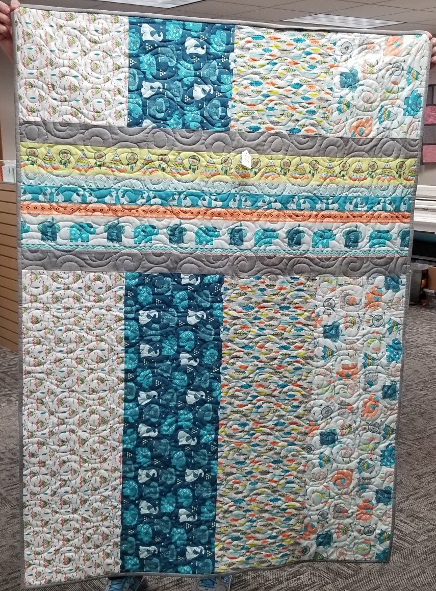 Boho Baby  40' By 57 Quilt