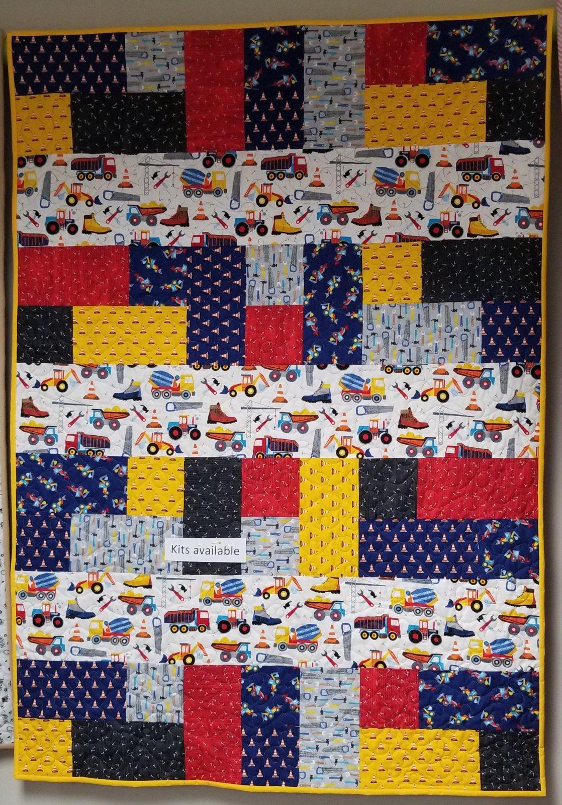 Work Zone/ Cherish Quilt Kit 41 X 57