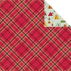 Happy Camper Double-Sided Cardstock 12X12 Lumberjack