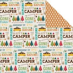 Happy Camper Double-Sided Cardstock 12X12 Back To Nature