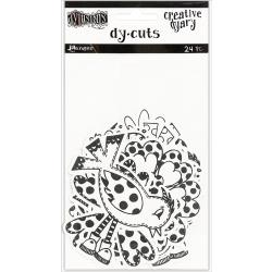 Dyan Reaveley's Dylusions Creative Dyary Die Cuts -Black & White Birds & Flowers