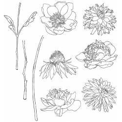Tim Holtz Cling Stamps 7X8.5 Flower Garden