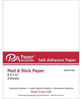 White Adhesive Paper 8.5x11
