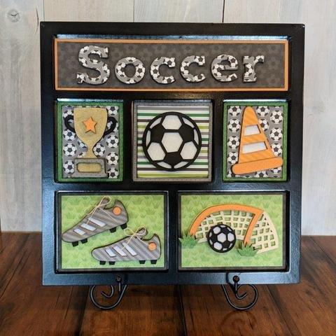 Foundations Decor Shadow Box Kit- Soccer