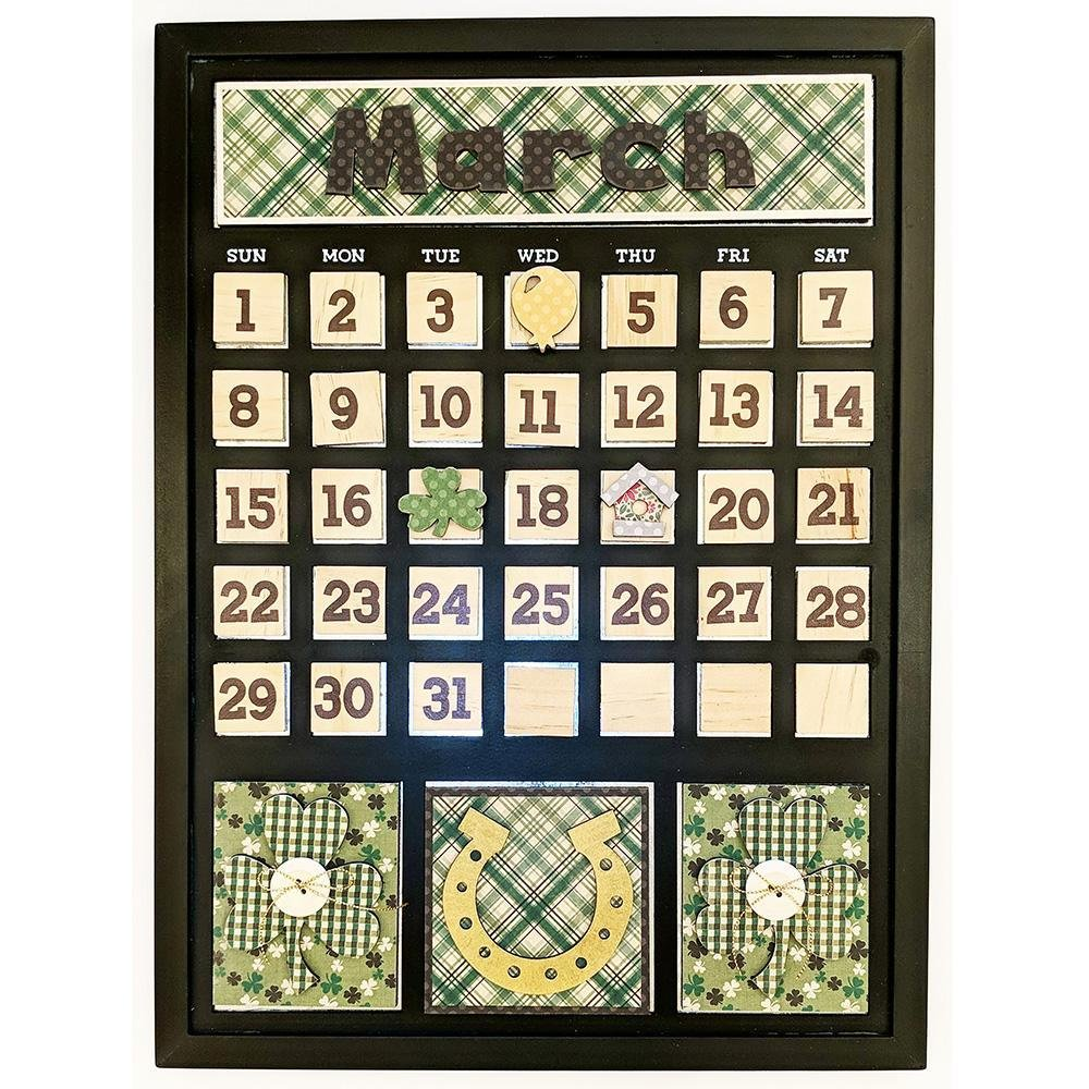 Foundations Decor Magnetic Calendar Kit- March