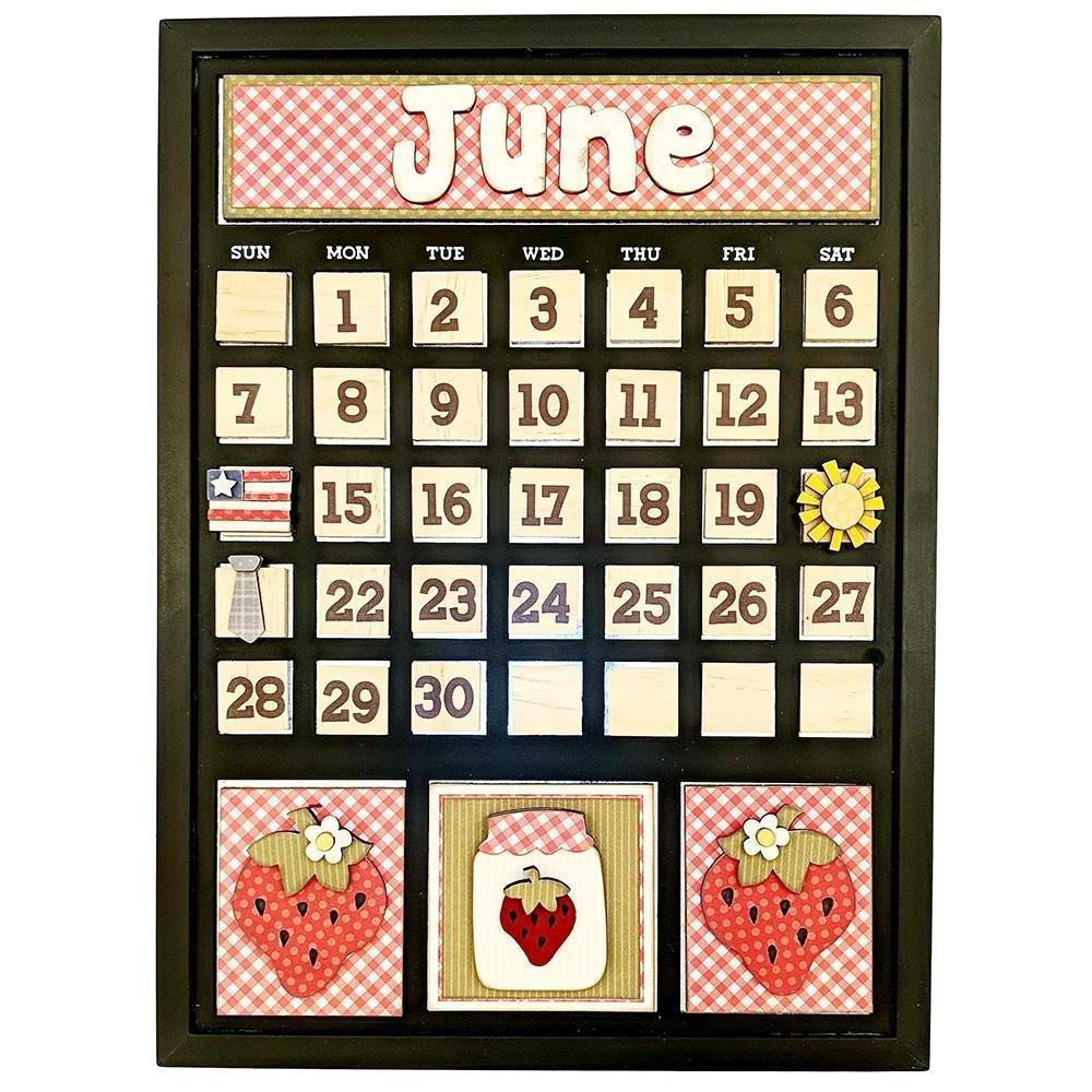 Foundations Decor Magnetic Calendar Kit- June