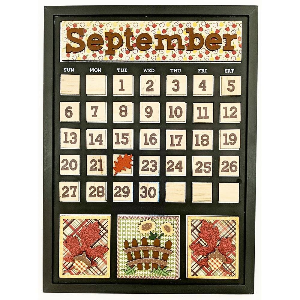 Foundations Decor Magnetic Calendar Kit- September