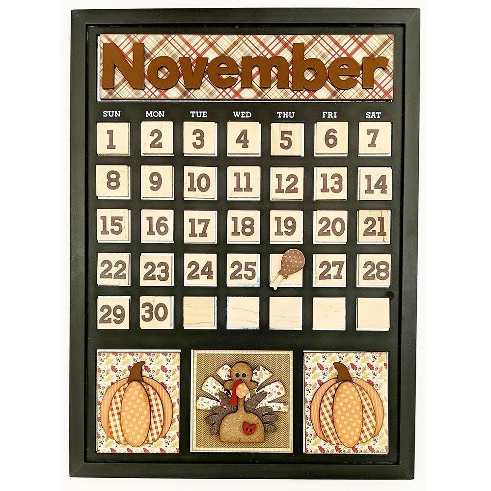 Foundations Decor Magnetic Calendar Kit- November