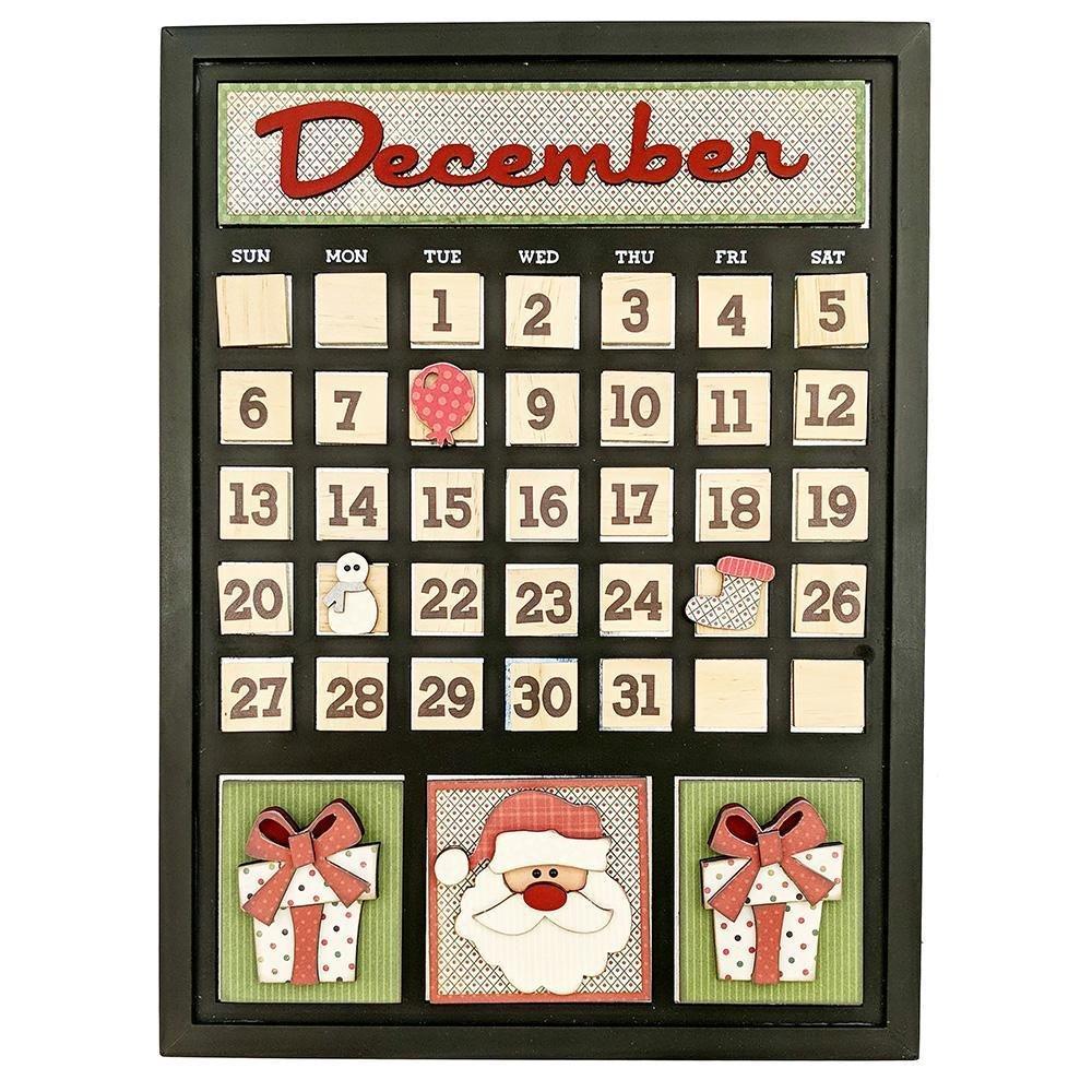 Foundations Decor Magnetic Calendar Kit- December