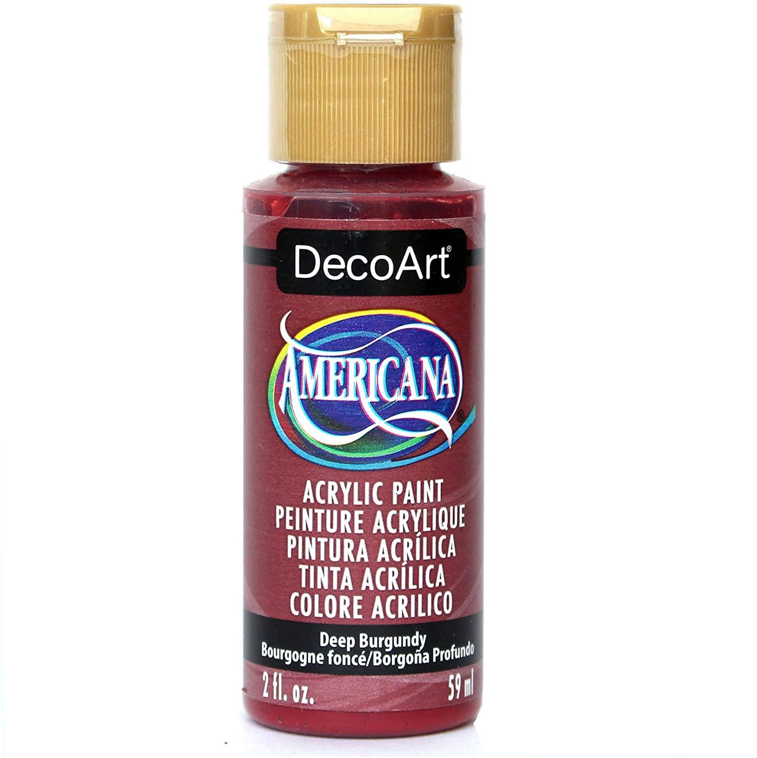 DecoArt Crafter's Acrylic Multi-Surface Paint- Burgundy