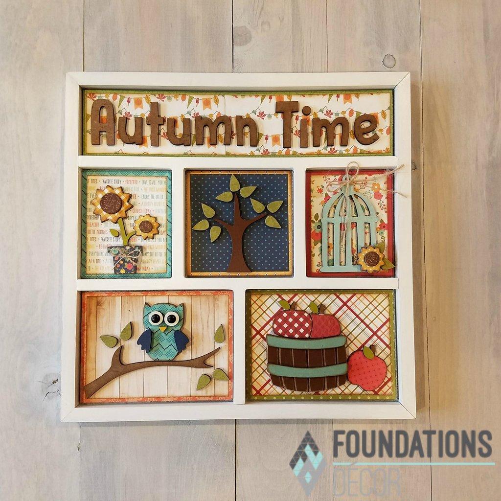 Foundations Decor Shadow Box Kit-Autumn Time