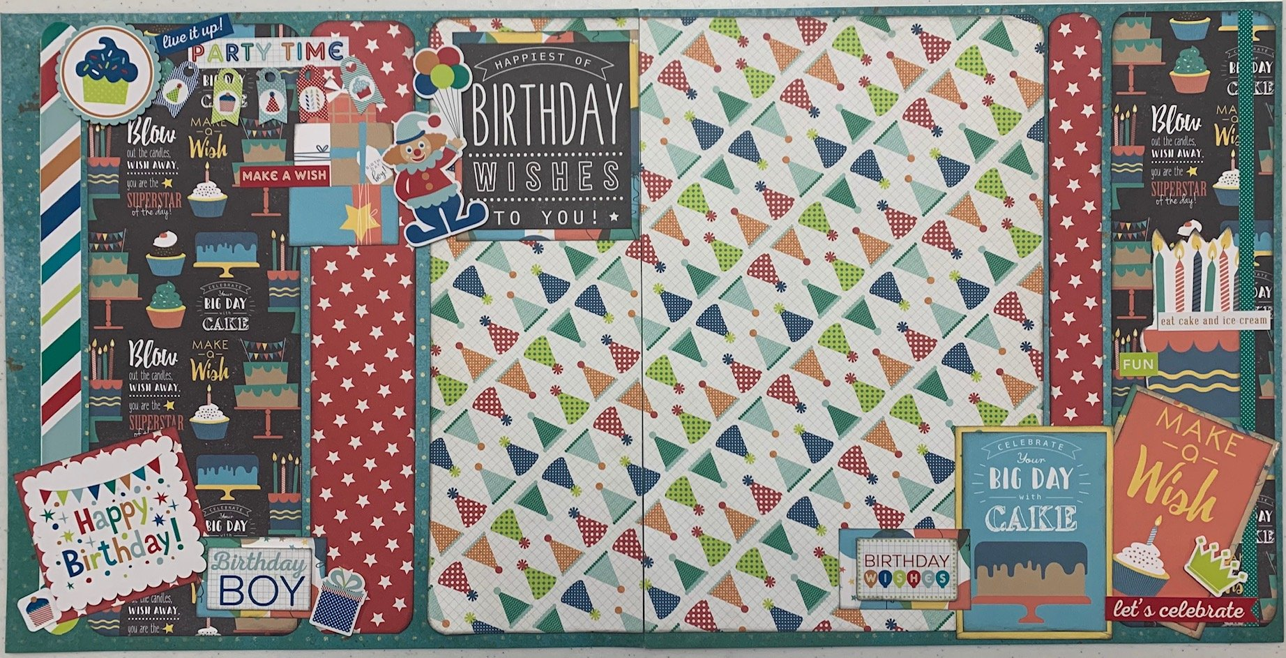 Birthday Boy Layout Kit