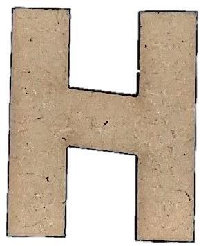 Foundations Decor Letter H