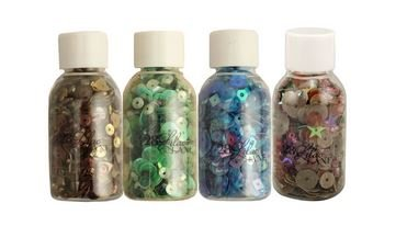 Buttons Galore / 28LL Sequin Bead Quartets- Great Outdoors