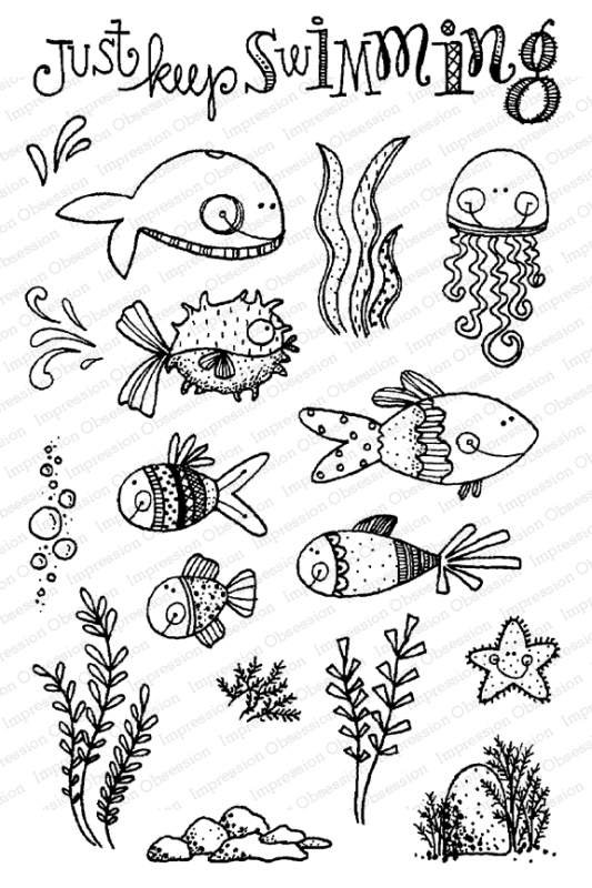 IO Stamp Fishies Set CL958
