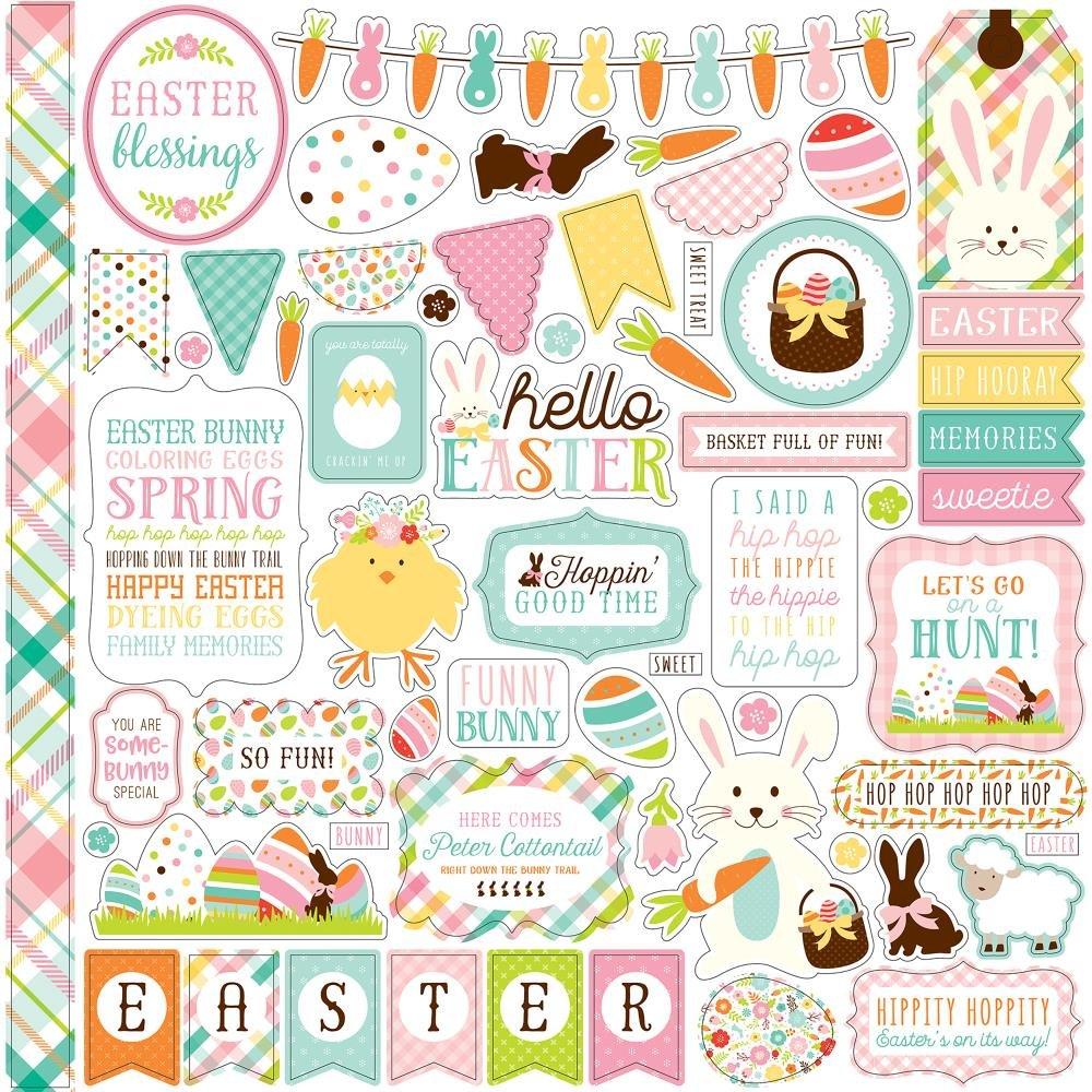 Echo Park Hello Easter 12x12 Sticker Elements