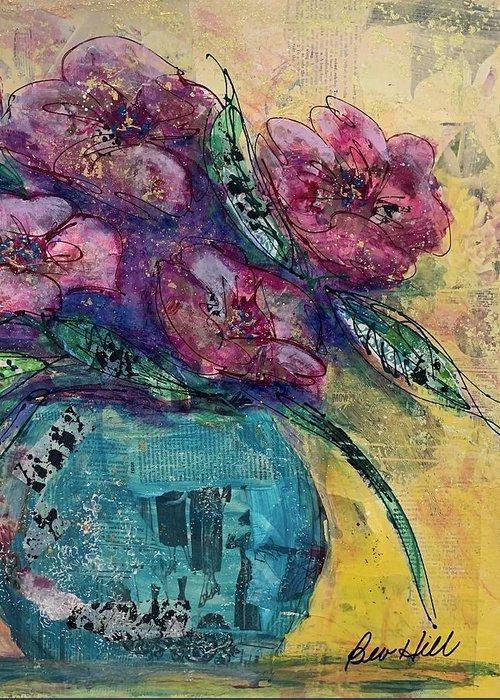 5x7 art greeting card Floral Bouquet