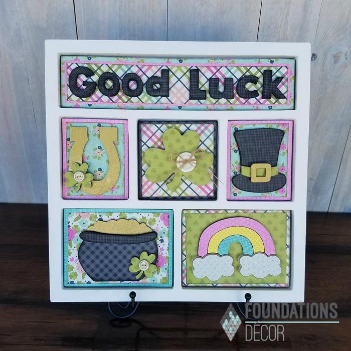 Foundations Decor Shadow Box Kit- Good Luck