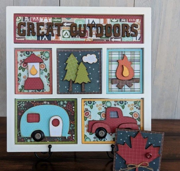 Foundations Decor Shadow Box Kit-Great Outdoors