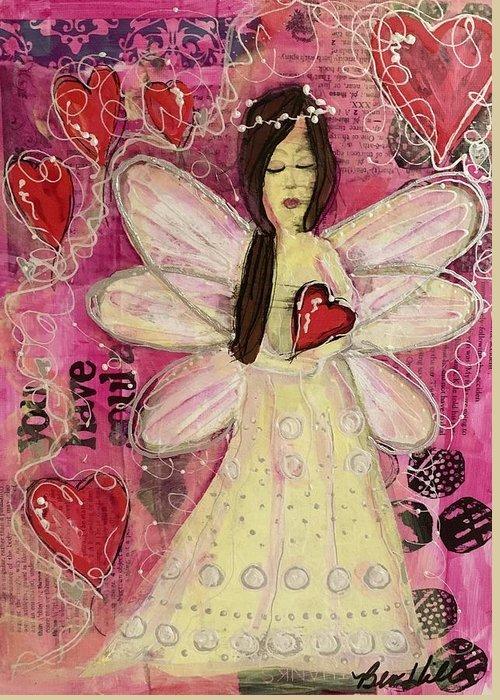 5x7 art greeting card Guardian Angel