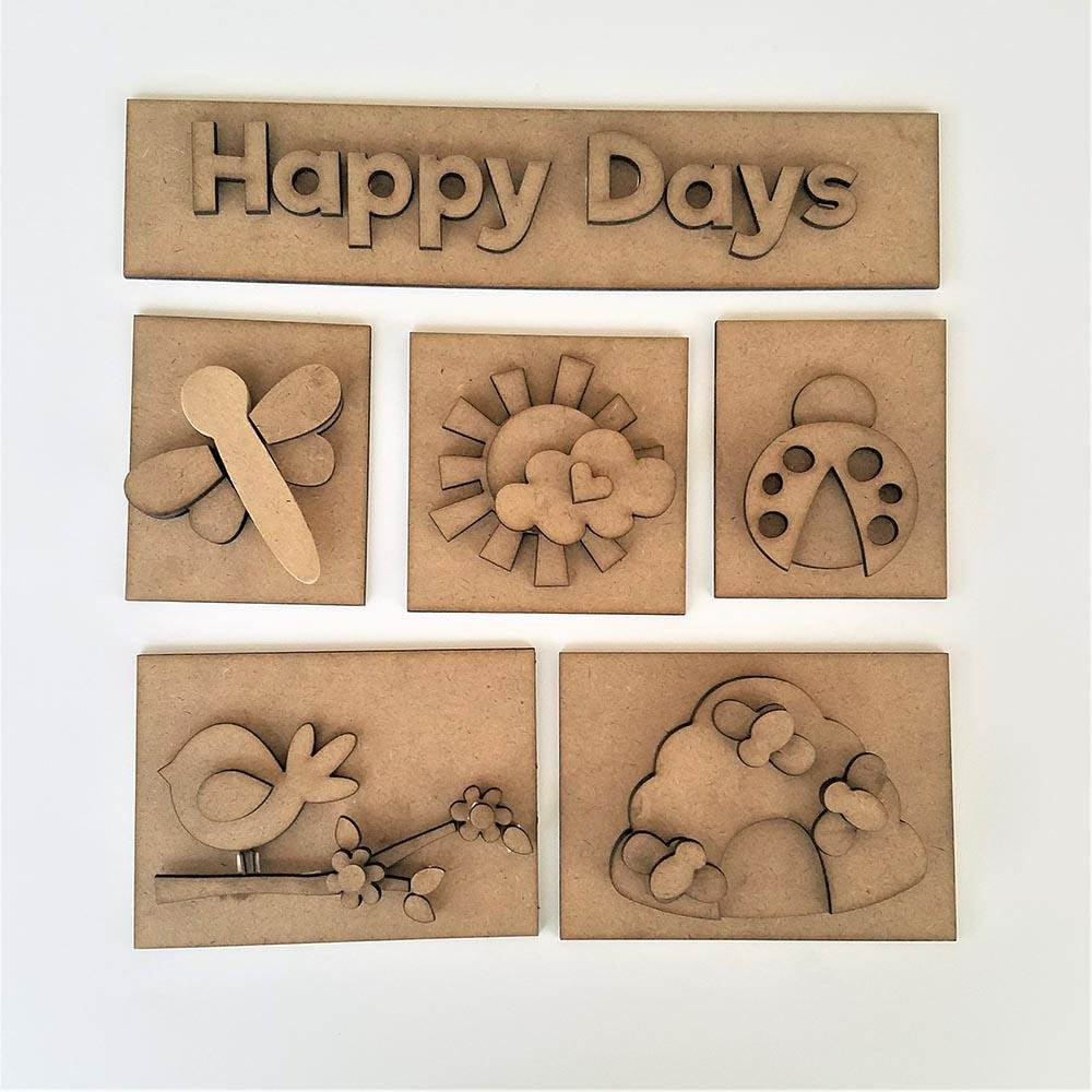 Foundation Decor Shadow Box Kit -Happy Days
