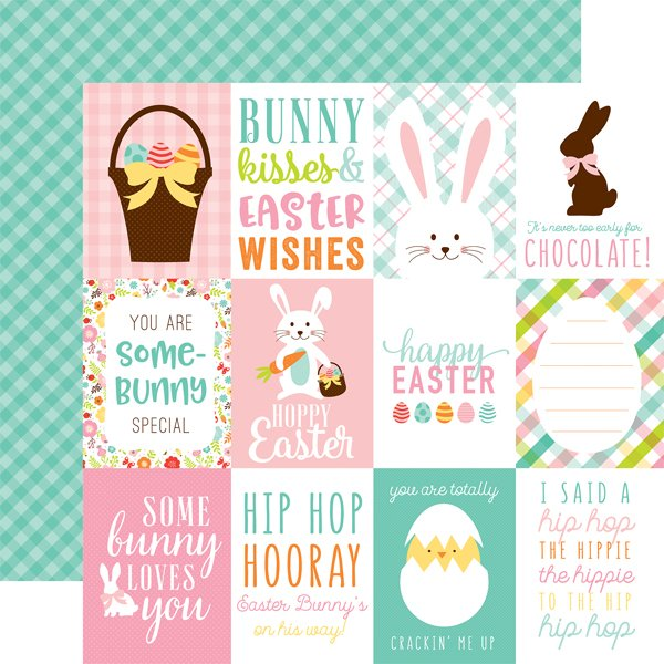 Echo Park Hello Easter 12x12 Double Sided Paper-3x4 Journaling Cards