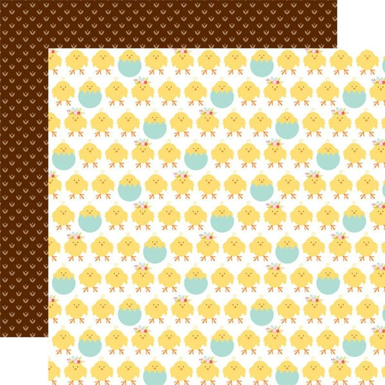 Echo Park Hello Easter 12x12 Double Sided Paper- Easter Chicks