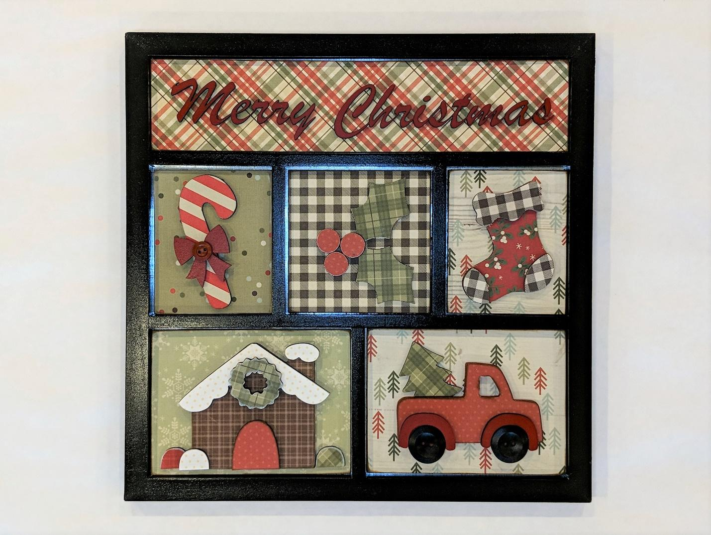 Christmas Shadow Box Frame Online Class