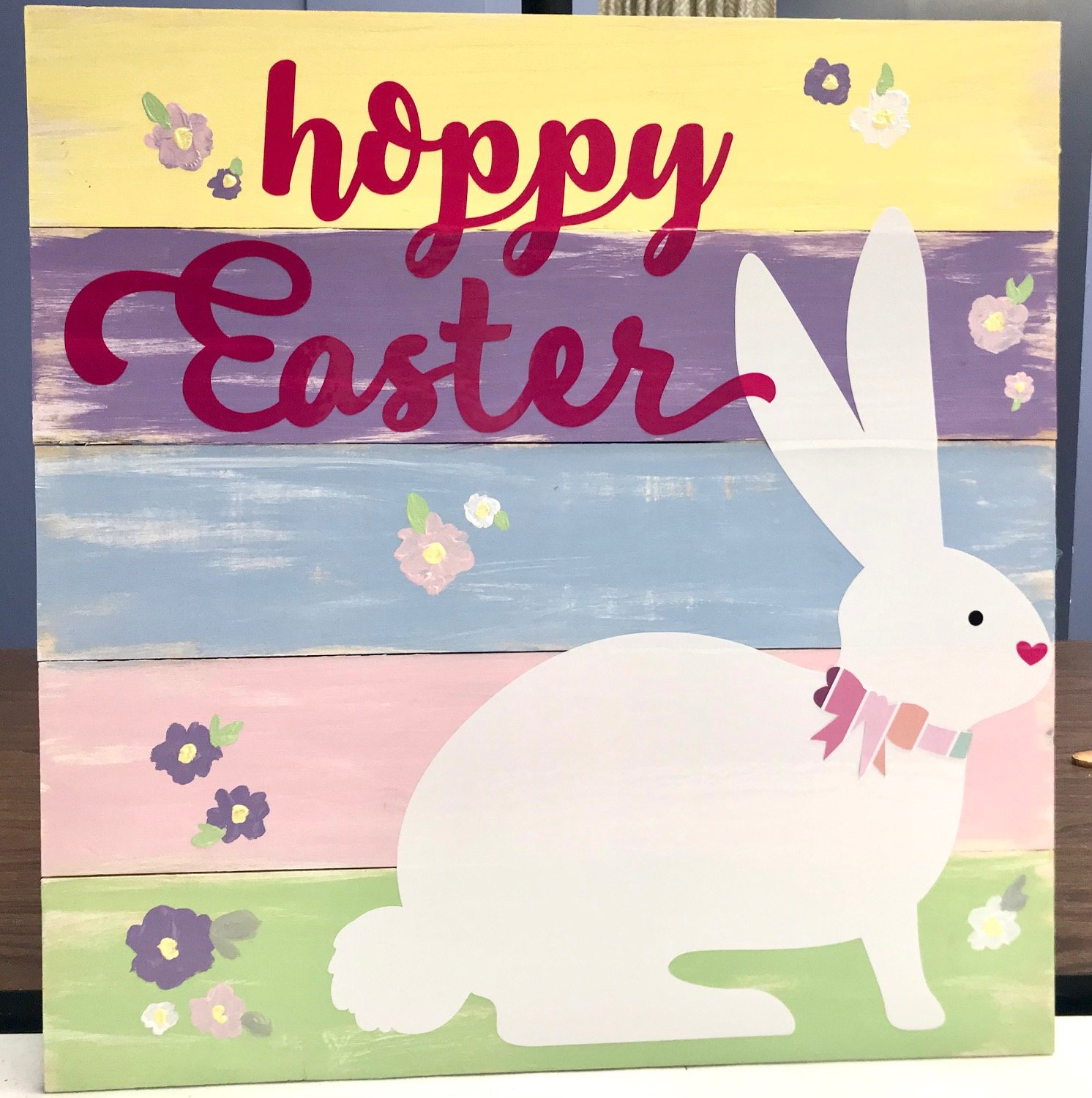 Hoppy Easter Wood Sign Virtual Class