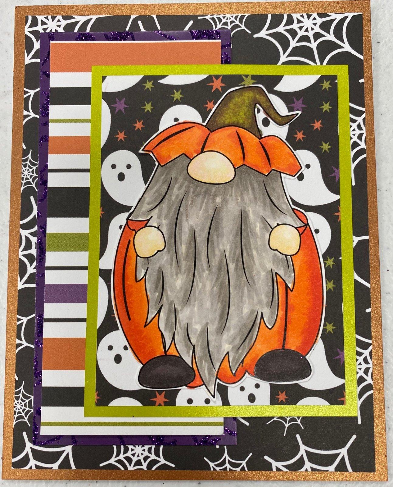 Gnome Halloween Card Kit