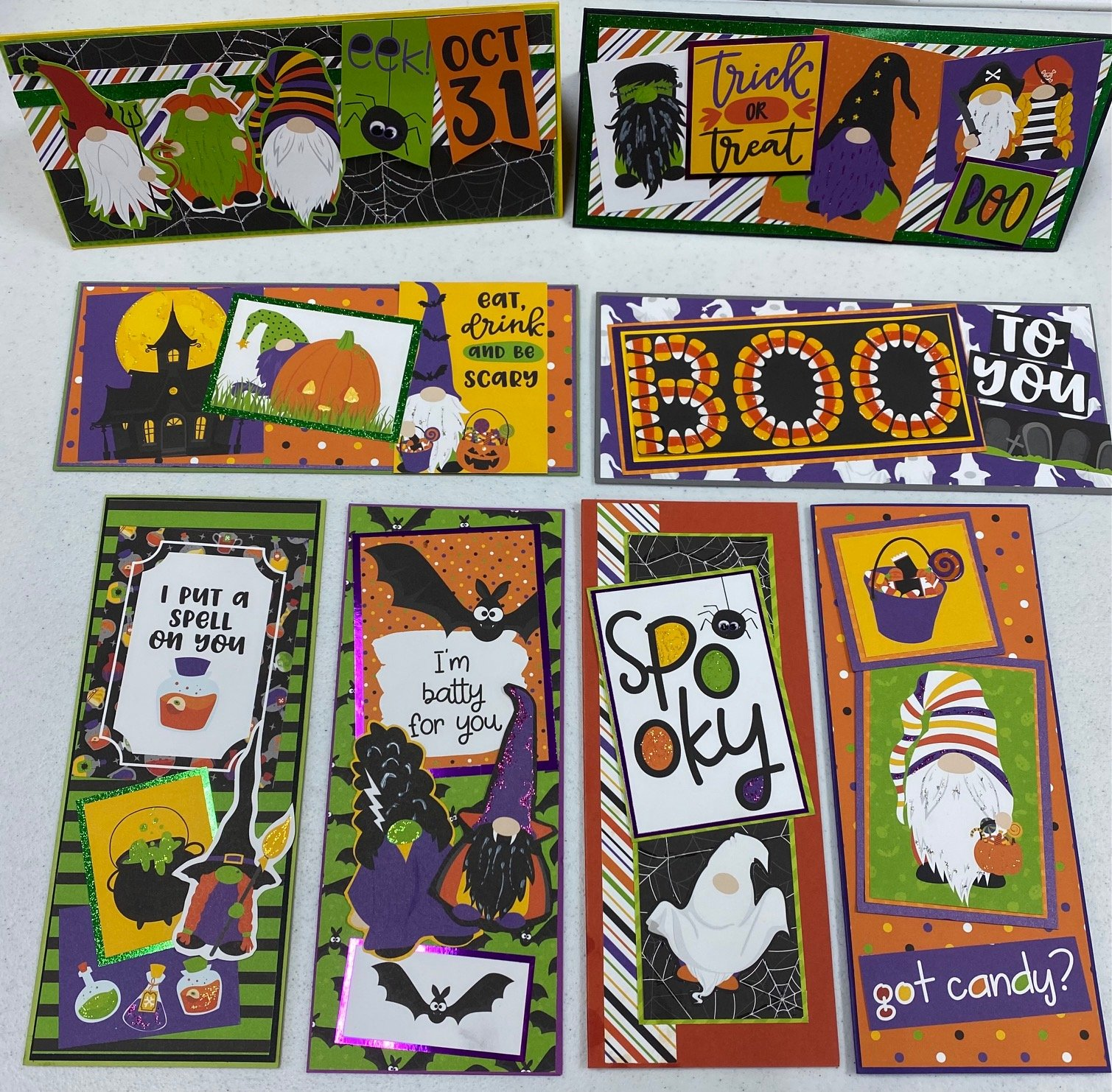 Boo Halloween Slimline Card Kit