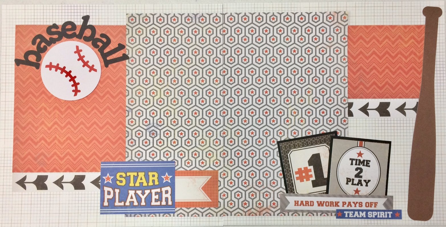Baseball Star Player Layout Kit