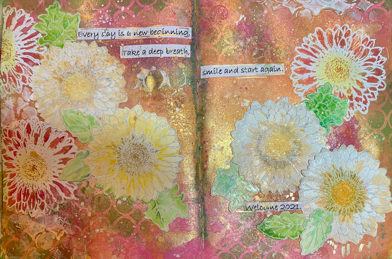 Every Day is a New Beginning - Let's Art Journal!