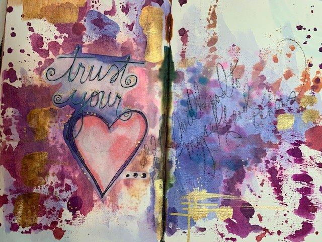Trust Your Heart Art Journal Class