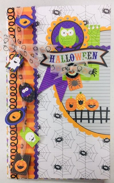 Sold out, photo reference only Halloween Waterfall Mini Album Kit