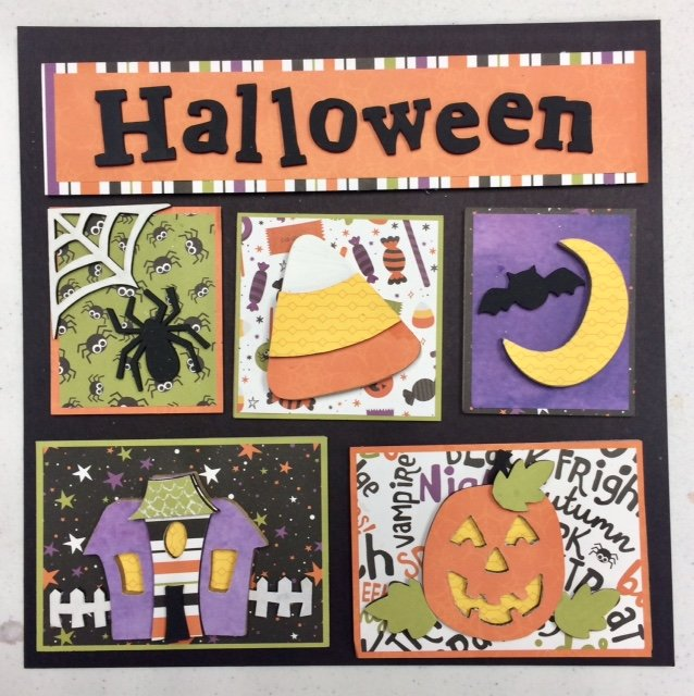 Sold out, photo reference only Halloween Shadow Box Kit with Paper & Video Instruction