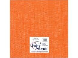 Paper Accents Fabric Burlap Sheet 12x12- Orange